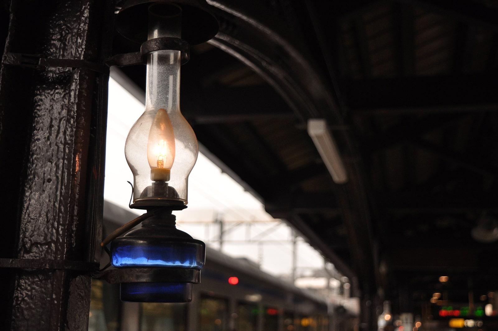 小樽駅のランタン