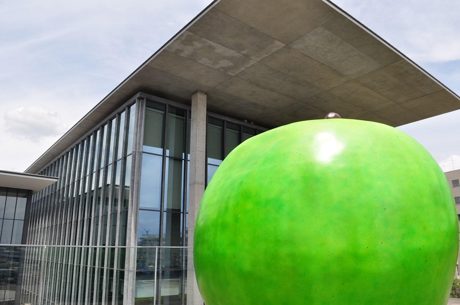 兵庫県立美術館青りんご02